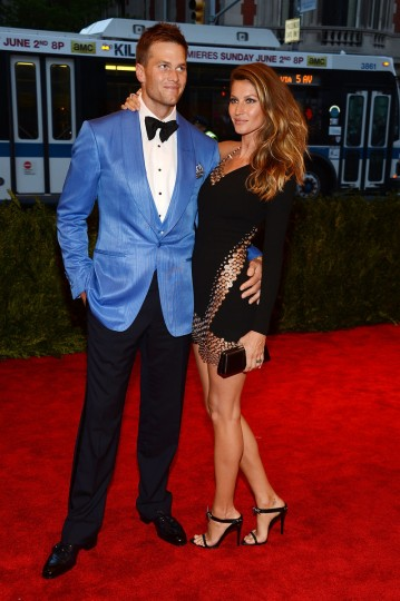 "Tom Brady and Gisele Bundchen attend the Costume Institute Gala for the ""PUNK: Chaos to Couture"" exhibition at the Metropolitan Museum of Art on May 6, 2013 in New York City. (Larry Busacca/Getty Images)"