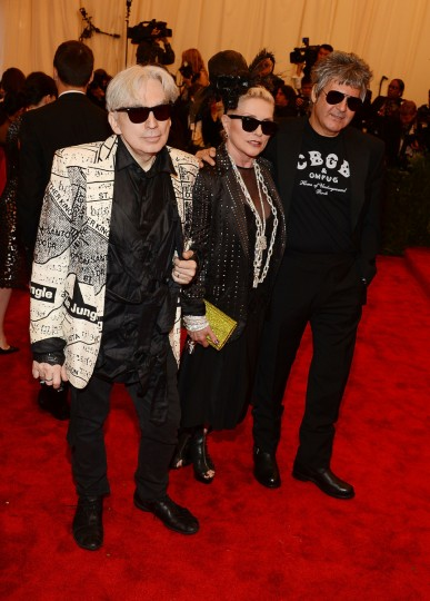 "Clem Burke, Debbie Harry and Chris Stein of Blondie attend the Costume Institute Gala for the ""PUNK: Chaos to Couture"" exhibition at the Metropolitan Museum of Art on May 6, 2013 in New York City. (Larry Busacca/Getty Images)"