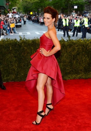 "Kate Beckinsale attends the Costume Institute Gala for the ""PUNK: Chaos to Couture"" exhibition at the Metropolitan Museum of Art on May 6, 2013 in New York City. (Larry Busacca/Getty Images)"
