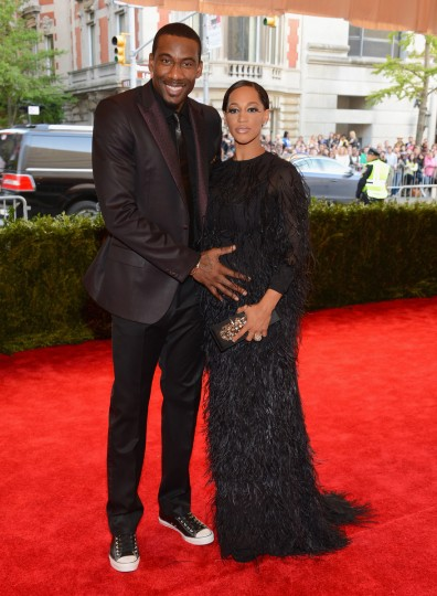 "Amar'e Stoudemire and Alexis Stoudmire attend the Costume Institute Gala for the ""PUNK: Chaos to Couture"" exhibition at the Metropolitan Museum of Art on May 6, 2013 in New York City. (Larry Busacca/Getty Images)"