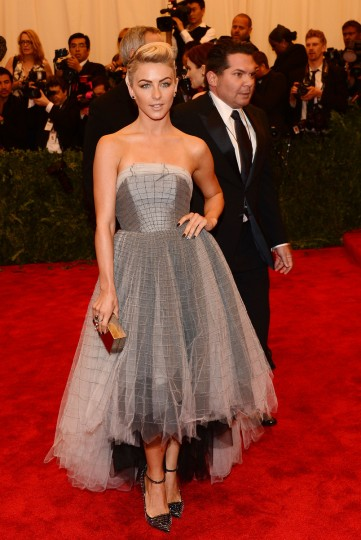 "Julianne Hough, wearing custom Topshop, attends the Costume Institute Gala for the ""PUNK: Chaos to Couture"" exhibition at the Metropolitan Museum of Art on May 6, 2013 in New York City. (Larry Busacca/Getty Images)"