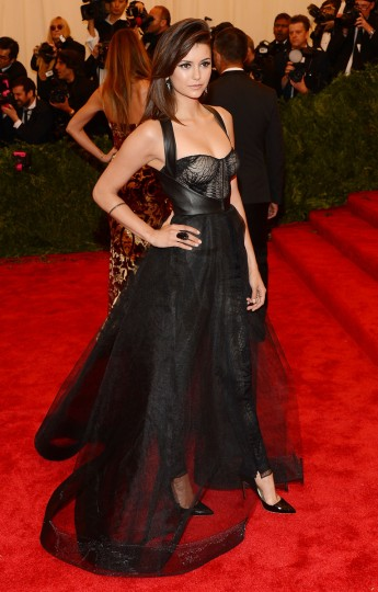 "Actress Nina Dobrev attends the Costume Institute Gala for the ""PUNK: Chaos to Couture"" exhibition at the Metropolitan Museum of Art on May 6, 2013 in New York City. (Larry Busacca/Getty Images)"