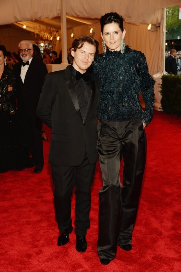 "Christopher Kane and Stella Tennant attend the Costume Institute Gala for the ""PUNK: Chaos to Couture"" exhibition at the Metropolitan Museum of Art on May 6, 2013 in New York City. (Dimitrios Kambouris/Getty Images)"