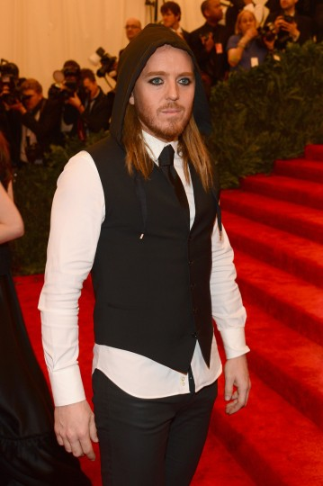"Tim Minchin attends the Costume Institute Gala for the ""PUNK: Chaos to Couture"" exhibition at the Metropolitan Museum of Art on May 6, 2013 in New York City. (Larry Busacca/Getty Images)"
