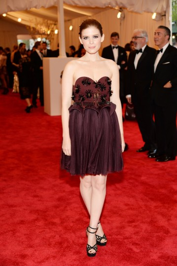 "Kate Mara attends the Costume Institute Gala for the ""PUNK: Chaos to Couture"" exhibition at the Metropolitan Museum of Art on May 6, 2013 in New York City. (Dimitrios Kambouris/Getty Images)"