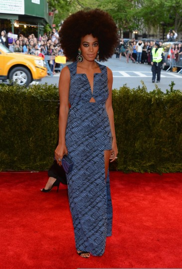 "Solange Knowles attends the Costume Institute Gala for the ""PUNK: Chaos to Couture"" exhibition at the Metropolitan Museum of Art on May 6, 2013 in New York City. (Larry Busacca/Getty Images)"