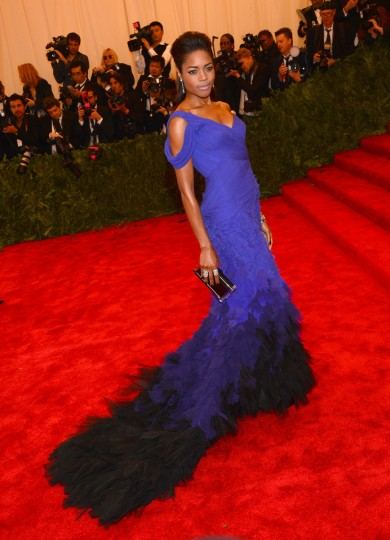 "Actress Naomie Harris attends the Costume Institute Gala for the ""PUNK: Chaos to Couture"" exhibition at the Metropolitan Museum of Art on May 6, 2013 in New York City. (Larry Busacca/Getty Images)"