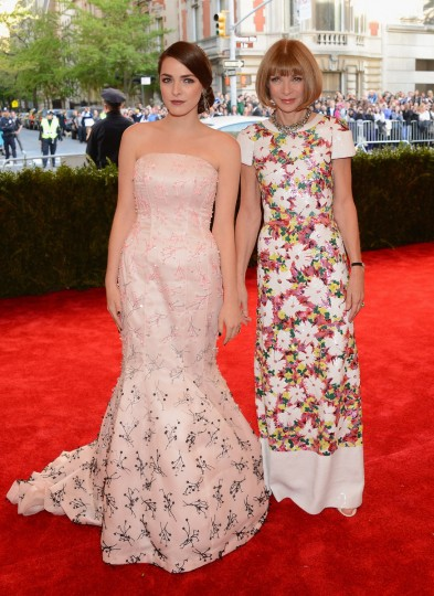"Anna Wintour and Bee Shaffer attend the Costume Institute Gala for the ""PUNK: Chaos to Couture"" exhibition at the Metropolitan Museum of Art on May 6, 2013 in New York City. (Larry Busacca/Getty Images)"