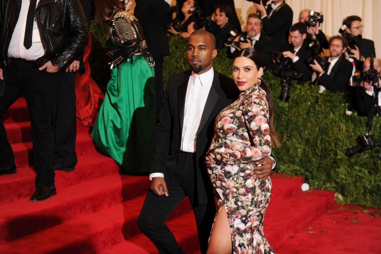 "Kanye West and Kim Kardashian attend the Costume Institute Gala for the ""PUNK: Chaos to Couture"" exhibition at the Metropolitan Museum of Art on May 6, 2013 in New York City. (Dimitrios Kambouris/Getty Images)"