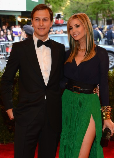 "Jared Kushner and Ivanka Trump attend the Costume Institute Gala for the ""PUNK: Chaos to Couture"" exhibition at the Metropolitan Museum of Art on May 6, 2013 in New York City. (Larry Busacca/Getty Images)"