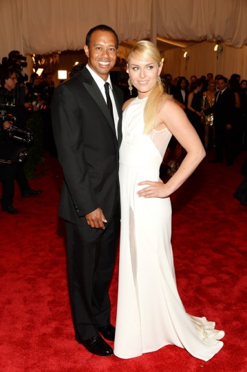 "Tiger Woods and Lindsey Vonn attend the Costume Institute Gala for the ""PUNK: Chaos to Couture"" exhibition at the Metropolitan Museum of Art on May 6, 2013 in New York City. (Dimitrios Kambouris/Getty Images)"