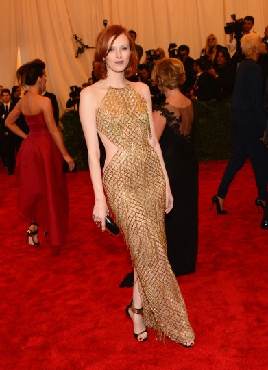 "Karen Elson attends the Costume Institute Gala for the ""PUNK: Chaos to Couture"" exhibition at the Metropolitan Museum of Art on May 6, 2013 in New York City. (Larry Busacca/Getty Images)"