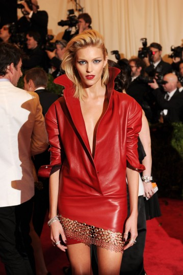"Model Anja Rubik attends the Costume Institute Gala for the ""PUNK: Chaos to Couture"" exhibition at the Metropolitan Museum of Art on May 6, 2013 in New York City. (Dimitrios Kambouris/Getty Images)"