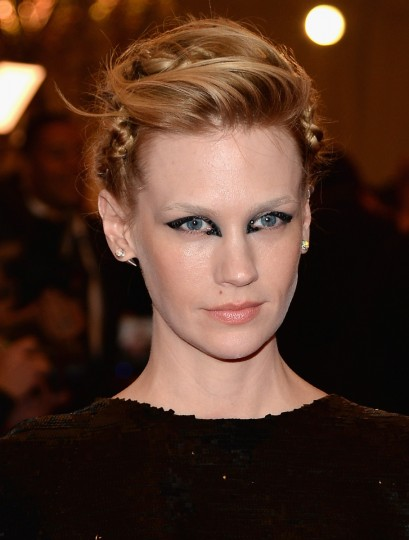"January Jones attends the Costume Institute Gala for the ""PUNK: Chaos to Couture"" exhibition at the Metropolitan Museum of Art on May 6, 2013 in New York City. (Dimitrios Kambouris/Getty Images)"