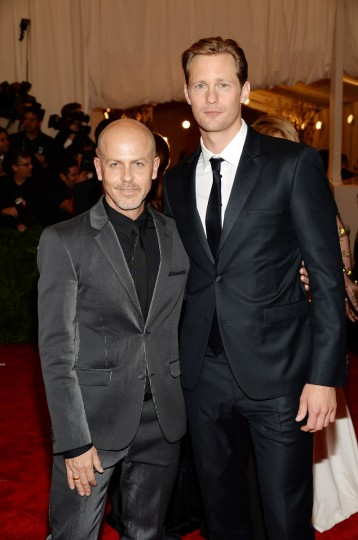 "Designer Italo Zucchelli (L) and actor Alexander Skarsgard attend the Costume Institute Gala for the ""PUNK: Chaos to Couture"" exhibition at the Metropolitan Museum of Art on May 6, 2013 in New York City. (Dimitrios Kambouris/Getty Images)"