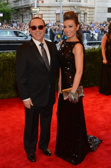 "Tommy Mottola and Thalia attend the Costume Institute Gala for the ""PUNK: Chaos to Couture"" exhibition at the Metropolitan Museum of Art on May 6, 2013 in New York City. (Larry Busacca/Getty Images)"