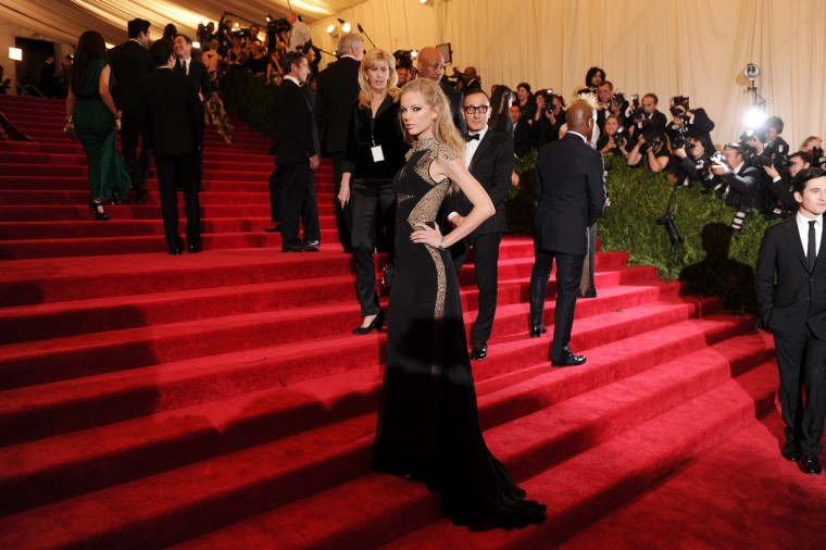 "Taylor Swift attends the Costume Institute Gala for the ""PUNK: Chaos to Couture"" exhibition at the Metropolitan Museum of Art on May 6, 2013 in New York City. (Dimitrios Kambouris/Getty Images)"
