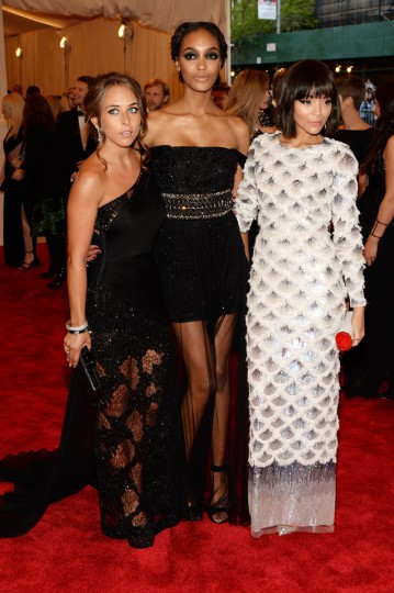 "Chloe Greene, Jourdan Dunn and Ashley Madekwe attend the Costume Institute Gala for the ""PUNK: Chaos to Couture"" exhibition at the Metropolitan Museum of Art on May 6, 2013 in New York City. (Dimitrios Kambouris/Getty Images)"