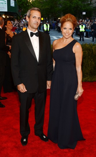 "John Molner (L) and Katie Couric attend the Costume Institute Gala for the ""PUNK: Chaos to Couture"" exhibition at the Metropolitan Museum of Art on May 6, 2013 in New York City. (Larry Busacca/Getty Images)"
