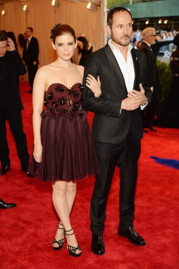 "Kate Mara and Joseph Font attend the Costume Institute Gala for the ""PUNK: Chaos to Couture"" exhibition at the Metropolitan Museum of Art on May 6, 2013 in New York City. (Dimitrios Kambouris/Getty Images)"