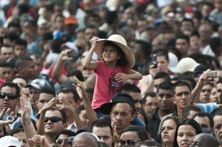 Members of various labour unions take part in the traditional May Day rally in Sao Paulo, Brazil. (Nelson Almeida/Getty Images)