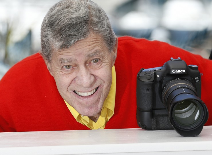 "US comedian Jerry Lewis poses during a photocall for the film ""Max Rose"" presented Out of Competition at the 66th edition of the Cannes Film Festival in Cannes. (Valery Hache/Getty Images)"