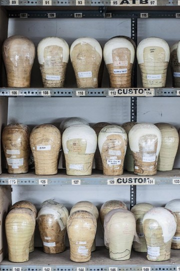 Mannequin heads sit on the shelf on May 21, 2013 in Bangli, Bali, Indonesia at Sari Rambut. (Putu Sayoga/Getty Images)