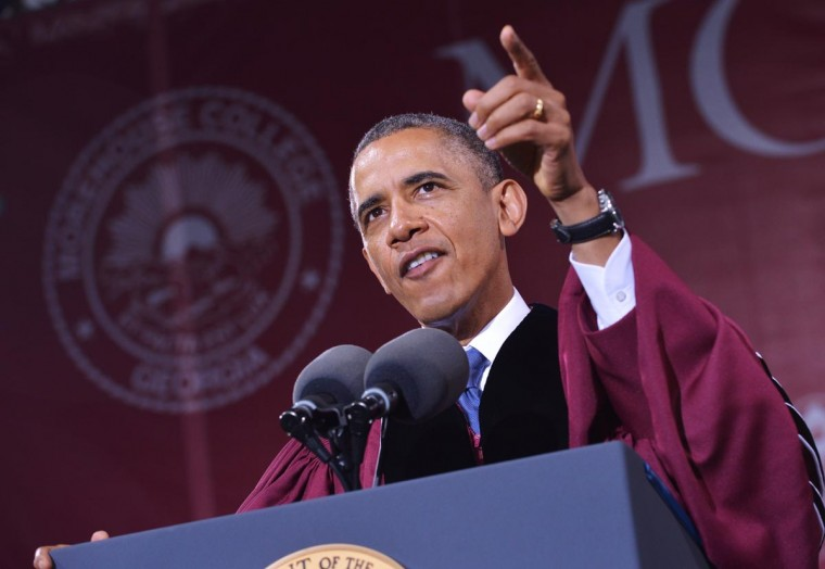 U.S. President Barack Obama delivers the commencement address during a ceremony at Morehouse College on May 19, 2013 in Atlanta, Georgia. (Mandel Ngan/AFP/Getty Images)