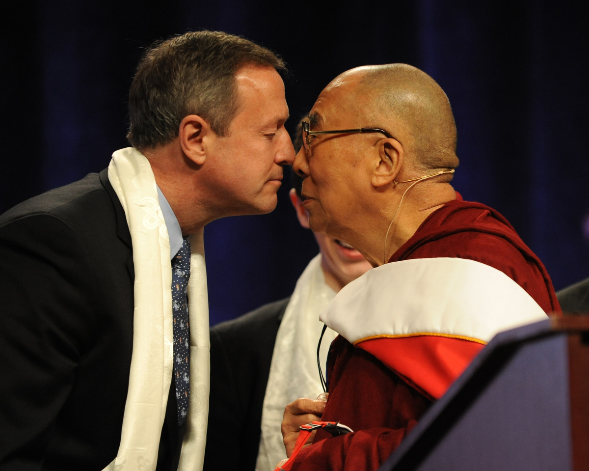 The Dalai Lama visits the University of Maryland at College Park