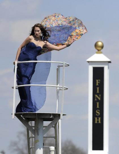 Preakness Fashion at Pimlico Race Track. (Lloyd Fox/Baltimore Sun)