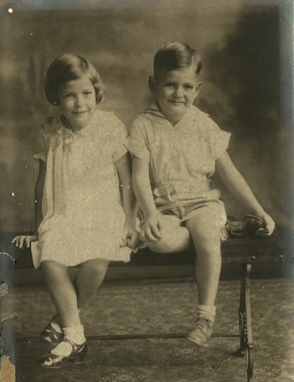 Moore with his sister, Louise. (Handout photo)