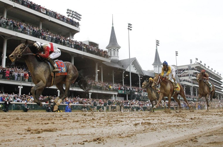 Orb, with jockey Joel Rosario up, captures the 139th running of the Kentucky Derby at Churchill Downs in Louisville, Kentucky, on Saturday, May 4, 2013. (David Coyle/Lexington Herald-Leader/MCT)