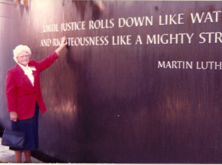 Mary at the Civil Rights Memorial dedication. (Handout photo)