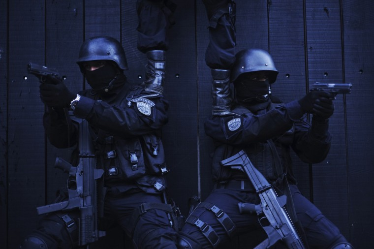 Police special forces train to operate against drug gangs in Salvador, Bahia State. One of Brazil's main tourist destinations and a 2014 World Cup host city, Salvador suffers from an unprecedented wave of violence with an increase of over 250% in the murder rate, according to the Brazilian Center for Latin American Studies (CEBELA). (Lunae Parracho/Reuters photo)