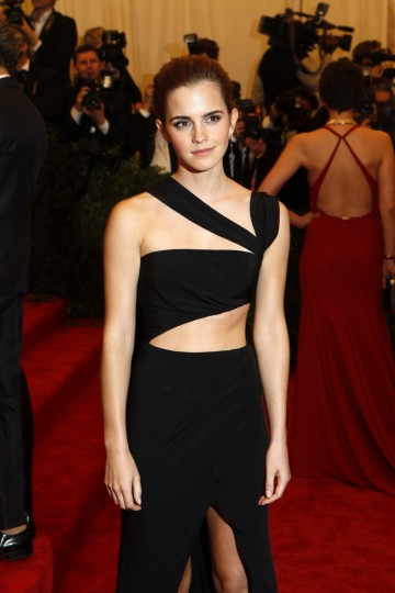 "Actress Emma Watson arrives at the Metropolitan Museum of Art Costume Institute Benefit celebrating the opening of ""PUNK: Chaos to Couture"" in New York, May 6, 2013. (Lucas Jackson/Reuters)"