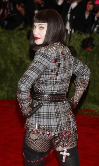 "Singer Madonna arrives at the Metropolitan Museum of Art Costume Institute Benefit celebrating the opening of ""PUNK: Chaos to Couture"" in New York, May 6, 2013. (Carlo Allegri/Reuters)"