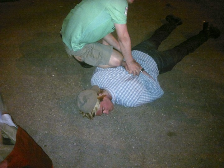 """A man named as Ryan Fogle by the Russian Federal Security Service, lies on the ground during his detention in this undated handout photograph released by the Press service of Russian Federal Security Service. Russia said on Tuesday it had caught an American red-handed as he tried to recruit a Russian intelligence officer to work for the CIA, a throwback to the Cold War era that risks upsetting efforts to improve relations. The Federal Security Service said Fogle, a third secretary at the U.S. Embassy in Moscow, had been detained overnight carrying """"special technical equipment"""", a disguise, a large sum of money and instructions for recruiting his target. The U.S. Embassy declined comment. (Russian Federal Security Service/Handout via Reuters)"""