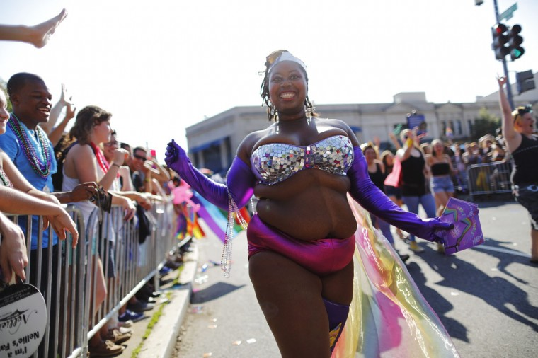 Dancers take part in the Capital Pride Parade in Washington, June 8, 2013. (Jonathan Ernst / Reuters)