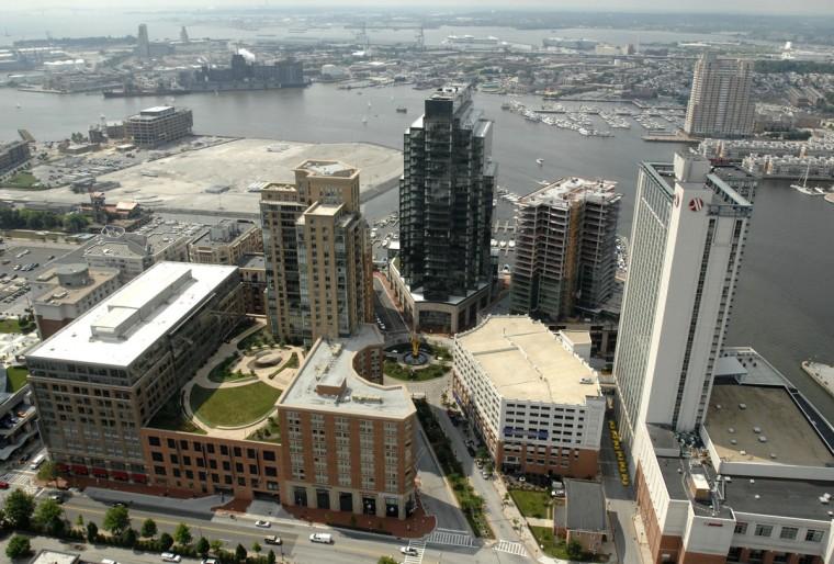 Baltimore's Harbor East neighborhood in 2009. (Lloyd Fox / The Baltimore Sun)