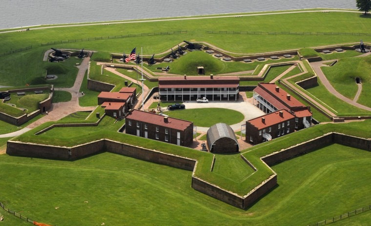 Fort McHenry is photographed from a helicopter in 2009. (Lloyd Fox / The Baltimore Sun)