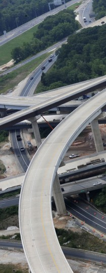 Aerial of an interchange between Interstate 95 and Interstate 695 in White Marsh in 2009. (Lloyd Fox, The Baltimore Sun)
