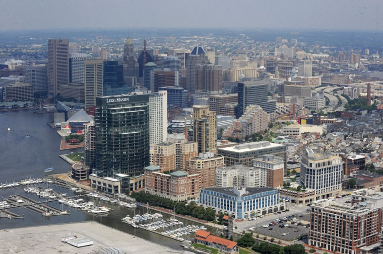 The Baltimore skyline in 2009. (Lloyd Fox / The Baltimore Sun)