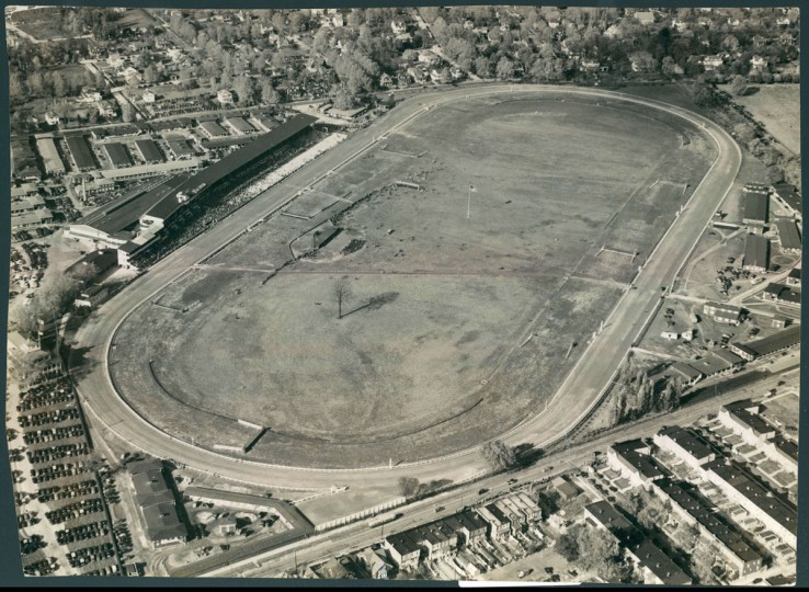 Pimlico Race Course in Baltimore's Park Heights neighborhood is photographed from the air in 1939. (Baltimore Sun File Photo)