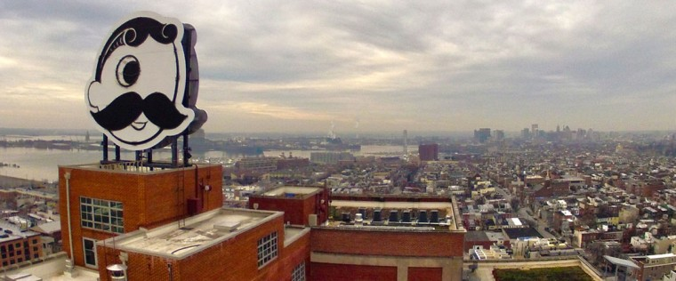 Southeast Baltimore is photographed by flying drone camera in 2012. (Terry Kilby / Special to The Baltimore Sun)