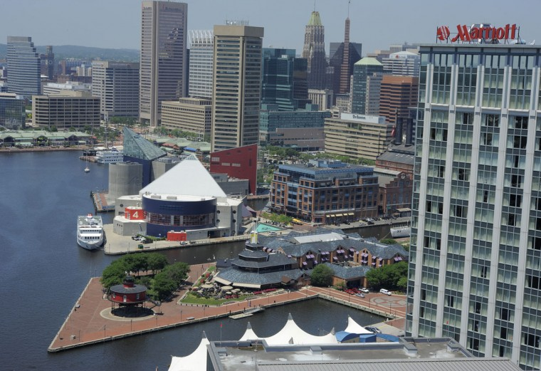 The Baltimore skyline in 2013. (Lloyd Fox / The Baltimore Sun)