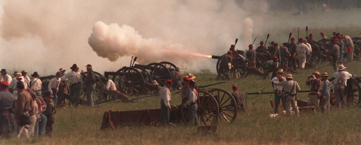 The Battle of Gettysburg reenactments through the years