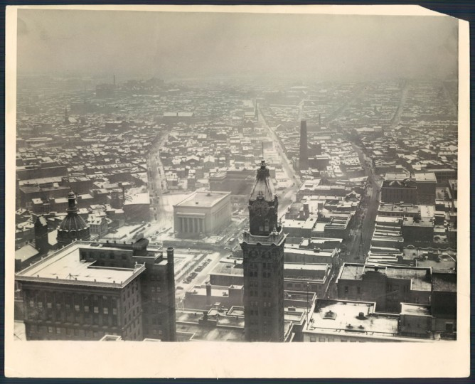 The Baltimore skyline in 1937. (Baltimore Sun File Photo)