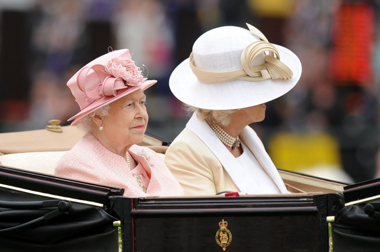Queen Elizabeth II & Camilla, Duchess Of Cornwall attends day one of Royal Ascot at Ascot Racecourse on June 18, 2013 in Ascot, England. (Charlie Crowhurst/Getty Images)