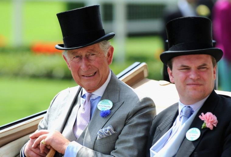 Prince Charles, Prince of Wales and Lord Dalmeny arrive during the Royal Procession on day two of Royal Ascot at Ascot Racecourse. (Stuart C. Wilson/Getty Images)