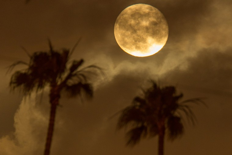 The Super Moon rises over Santa Monica on June 23, 2013 in Santa Monica, California. (Christopher Polk/Getty Images)